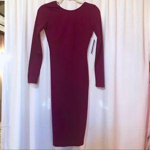 Midi backless dress
